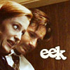 tree: mulder and scully making faces; text: eek ([xf] mulder and scully surf gossamer)