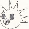 squidicorn: black pen drawing of a chupacabra head (Chupacabra)