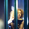 usuallyhats: River Song in her cell, looking up from her diary (river)