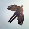 such_heights: shot from below of sam wilson flying (mcu: sam [fly])