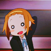 laceblade: Ritsu of K-ON!, hand on back of head, looking embarrassed (K-ON: Ritsu embarassed)