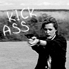 tree: scully holding a gun; text: kick ass ([xf] more than i thought)