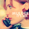 tree: scully holding a mobile phone; text: mulder, it's me. ([xf] you oughta know)