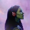 naushika: (MCU - Gamora - headphones)