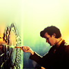 shopfront: Source: Doctor Who. Eleventh Doctor pointing his screwdriver at the Pandorica. (DW - don't know what it is? poke it!)