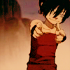 januar: Toph from Avatar: The Last Airbender pointing straight out ([atla] toph)