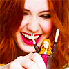 such_heights: karen looking delighted with her amy pond action figure (who: karen [action figure])