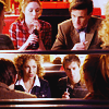 such_heights: amy and eleven and river and rory sitting in a diner (who: team eleven!)