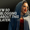 "januar: Nimueh from Merlin and text ""I'm so blogging about this later."" ([merlin] blogging nimueh)"