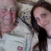ofearthandstars: A photo of my grandfather and myself (faces only) (grandpa and me)