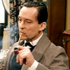 tei: Jeremy Brett with a pipe. (SH: Brett-- pipe)