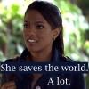 akamarykate: Martha Jones with text She saves the world. A lot. (marthasaves)