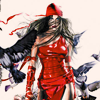 goodbyebird: Comics: Elektra walking towards you, doves scattering behind her. (C ∞ Elektra)