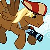 frith: Winged brown pony with a camera (Photo pony)