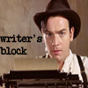 kaydeefalls: typewriter!christian has writer's block! (writer's block)