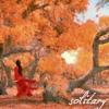 kaydeefalls: woman in red alone among orange leaves (leave me alone)