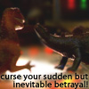 "kaydeefalls: wash's dinosaurs: ""curse your sudden but inevitable betrayal!"" (curses! foiled again!)"