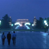 kaydeefalls: walking across the bridge, lincoln memorial at night (back to work)