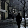 kaydeefalls: winters silhouette on paris street at night (another winter in a summer town)