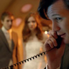 kaydeefalls: eleven answers phone with newlywed rory/amy in background (OT3 companions)
