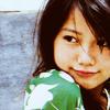 amihan: miyazaki aoi wearing a green top, looking over right shoulder ([aoi] green)