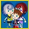tyger: Sora, Riku, and Kairi's Avatar Kingdom chibi, arranged as an almost-hug. (SoRiKai - chibis)