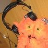 crazyscot: Beeblebear wearing headphones (tech bear)