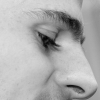 crazyscot: Tight close-up of me in profile (pensive)