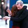 such_heights: clara hugging a confused twelve (who: clara & twelve [hug])