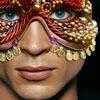 me_ya_ri: Clark Kent wearing an elaborate jeweled mask (DCU Harem Verse 01--Mask, Harem Verse Mask 01)