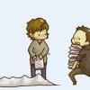 jenwryn: Chibi Sam and Dean, with books. (spn • sam&dean; books are cool)