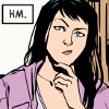 next_to_normal: Kate Bishop (Hawkeye comic); text: Hm. (hmm)
