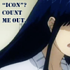 "attie: The back of Kanda's head, accompanied by the text ""'Icon'? Count me out."" (dgm - kanda out)"