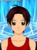 pinkrangerv: White Hispanic female, with brown hair, light skin, and green eyes, against a background of blue arcane symbols (Default)