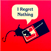 "attie: A mouse caught in a trap, saying ""I Regret Nothing"" (misc - regret nothing)"