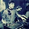 attie: Spock DJing. (st - dj spock)