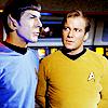 attie: Kirk looking at Spock (st - kirk looking at spock)