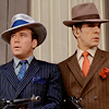attie: Kirk and Spock in 1920s gangster's outfits. (st - kirk and spock gangsters)