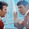 attie: Kirk, separated from a dying Spock by a glass wall. (st2 - kirk and spock glass wall)