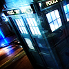starlady: the TARDIS on a dark street (blue light special)