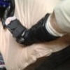 davidgillon: A foot, mine, in a camwalker brace (Boot)