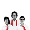 amihan: black and white images of epik high from the album 'swan songs', their neckties are in red ([epik high] swan songs)