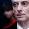 st_aurafina: Twelfth Doctor with Clara in the background (DW: Twelve red)