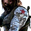 st_aurafina: The Winter Soldier wearing a mask and showing his metal arm (Marvel: Winter Soldier)