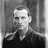 amihan: black and white image of christopher eccleston as the ninth doctor in 'doctor who' ([doctor who] nine (b/w))