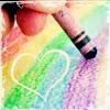 busaikko: a heart in a crayon rainbow (x rainbow heart)