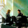 skieswideopen: John Sheppard and Teyla Emmagan from SGA sitting across from each other at a table (SG: John and Teyla at table, SG: John & Teyla)
