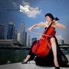 erika: Woman gracefully playing cello. (music: cello)