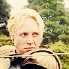 bookcat: Brienne of Tarth (Game of Thrones) pointing a sword with a determined expression. (asoiaf)