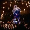 jedusaur: A Christmas light display of a Santa with a hockey stick. (hockey santa)
